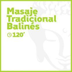 Masaje Tradicional Balinés - 120 minutos