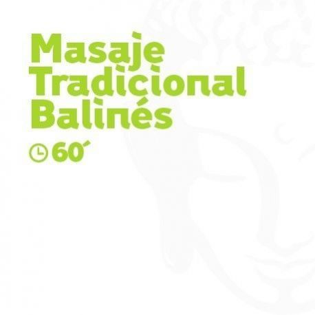 Masaje Tradicional Balinés - 60 minutos